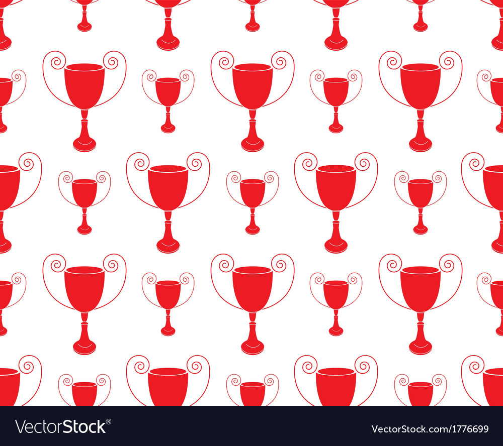 Red seamless pattern with trophy vector | Price: 1 Credit (USD $1)