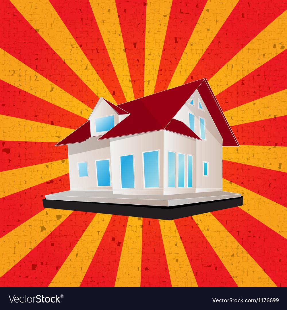 Retro style house graphic vector   Price: 1 Credit (USD $1)