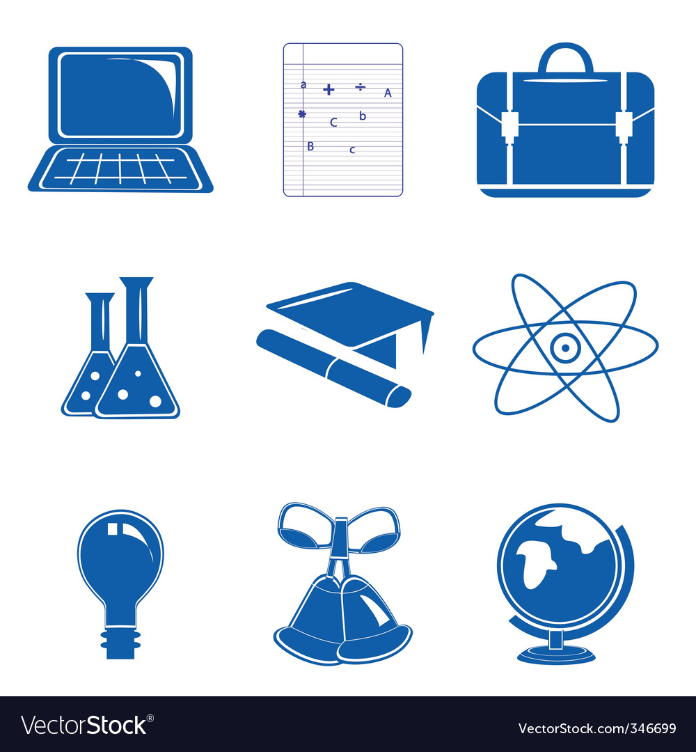 Study icons vector | Price: 1 Credit (USD $1)