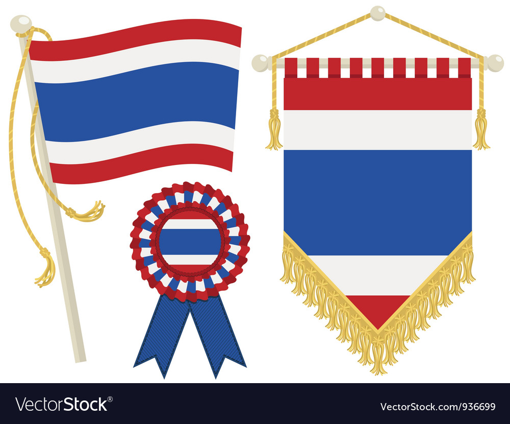 Thailand flags vector | Price: 1 Credit (USD $1)