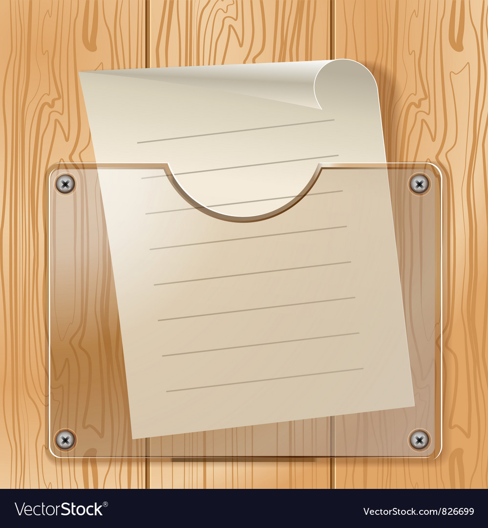 Wood glass paper vector | Price: 3 Credit (USD $3)