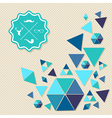 Unusual vintage hipsters label icons geometric vector