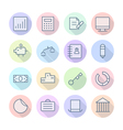 Thin line icons for business and finance vector