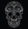 Skull line ornament vector