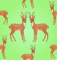 Seamless texture young deer wild animal vector