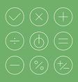 Flat design thin line icons set vector