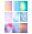 Set abstract modern poligonal background vector
