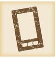 Grungy smartphone icon vector