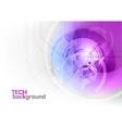 Tech background purple corner round vector