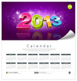 Calendar 2013 new year background vector
