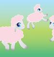 Four sheep - vector
