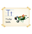 A letter t for tools vector