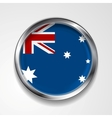 Abstract button with metallic frame australian vector