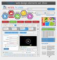 Creative white web design elements set vector
