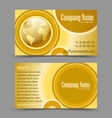 Globe theme business card vector