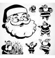 Retro santa ornaments vector