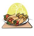 Fajitas and nachos chips vector