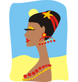 Suntanned girl with beads vector
