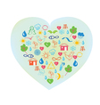 Ecology symbol - abstract heart vector
