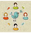 Social media rss feed vector