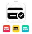 Credit card access icon vector