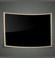 Empty vintage photo frame background vector