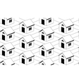 Monochrome seamless pattern with houses vector