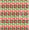 Seamless geometric pattern with colorful elements vector
