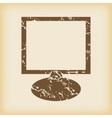 Grungy monitor icon vector