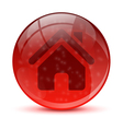 Red home icon vector
