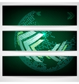 Arrow green background with place for your text vector