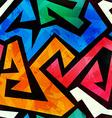 Grunge colored graffiti seamless texture vector