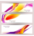 Set of three colorful banners designed in the same vector