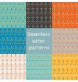 Set of 8 seamless ethnic aztec patterns vector