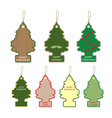 Collection of christmas tree card tag label design vector