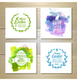 Set of easter watercolor decorative cards vector