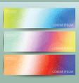 Abstract polygonal banner background set vector