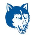 Wolf wild dog head retro vector