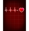 Heart beating monitor eps 8 vector