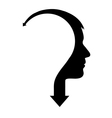 Abstract male head with arrow vector