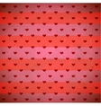 Red hearts striped pattern vector