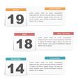 Events calendar vector