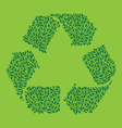 Recycle leaf green vector