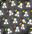 Abstract crowd of social media account avatars vector