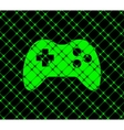 Gaming joystick flat modern web button and space vector