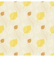 Seamless autumn patternabstract yellow leaf vector