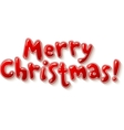 Hand lettering ornate merry christmas sign vector