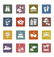 Tourism recreation  vacation icons set vector