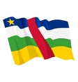 Political waving flag of central african republic vector