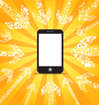 Media content goes to modern mobile phone vector